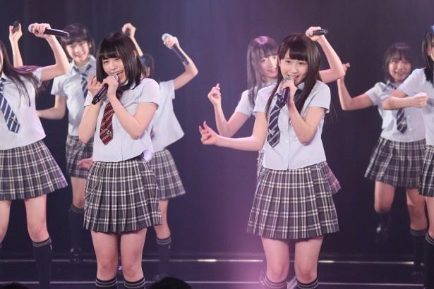 SKE48研究生の新公演「青春ガールズ」のセンターを務めた井上瑠夏(右)にインタビュー