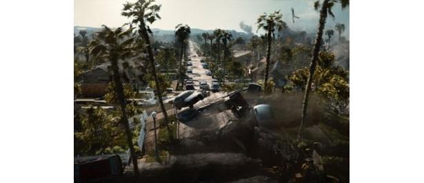 【『2012』迫力の映像たち】大地震に影響により、道路がとんでもないことに