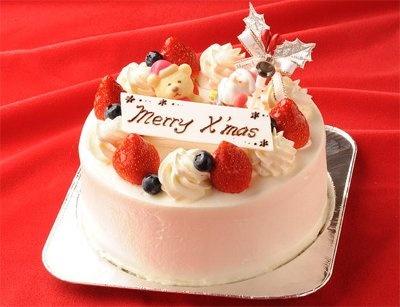 マイデコレーション・クリスマスケーキ」の完成例