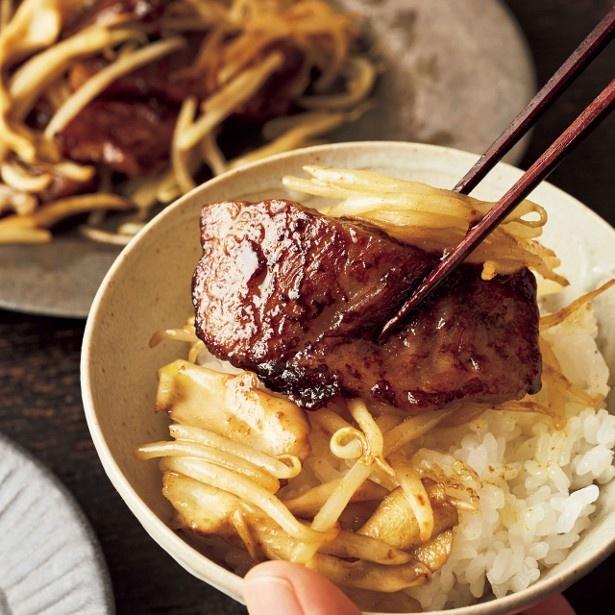 「牛カルビ肉のカレーオイスター炒め」 レタスクラブニュースより
