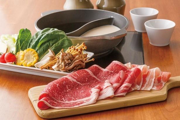 「しゃぶしゃぶすきやき但馬屋」(10階)からは、和牛の赤身を堪能できる「食べ飲み放題プラン」(3980円)が登場