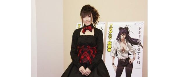 デビュー会見を行った「第3回全日本アニソングランプリ」優勝の佐咲紗花