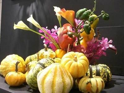 """""""収穫""""をテーマに秋の素材でアレンジ"""