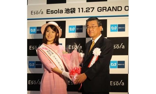 豊島区のソメイヨシノ桜観光大使、宮崎彩加さんも登場した