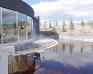 効能豊かな植物性モール温泉を水着で楽しむことができます。施設内にはレストランも…