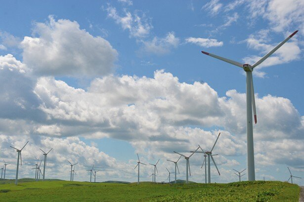 57基の風車群