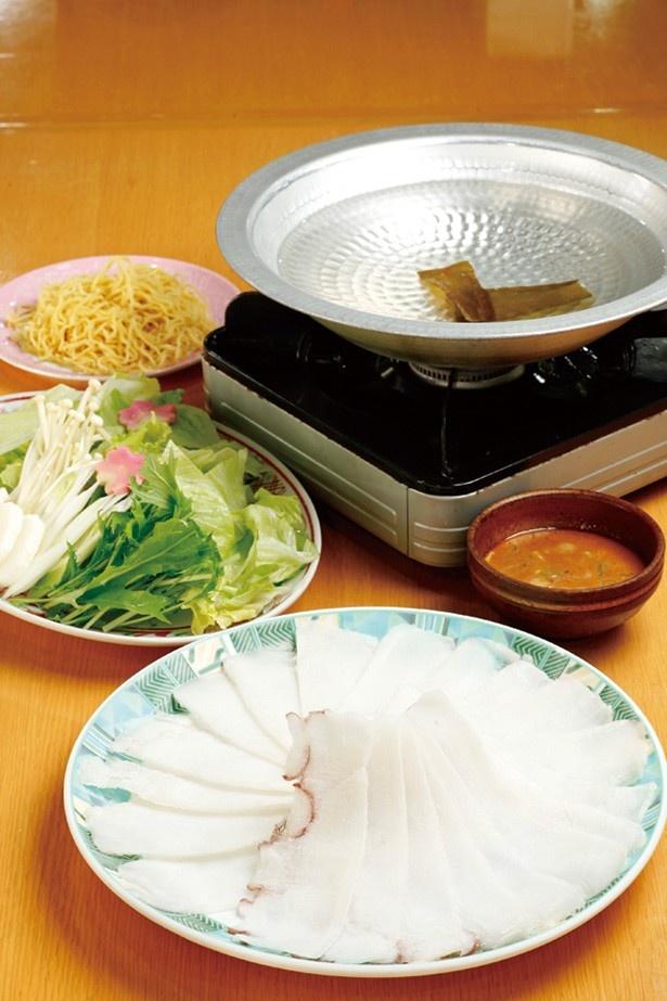 人気の「タコしゃぶ鍋」(2041円) 他にもおすすめメニューが…
