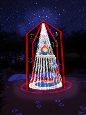 エントランスを抜けると最初に目に飛び込む「光のツリー」