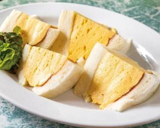 「コロナの玉子サンドイッチ」(680円)は、自家製デミソースとマスタードが味の決め手/喫茶 la madrague