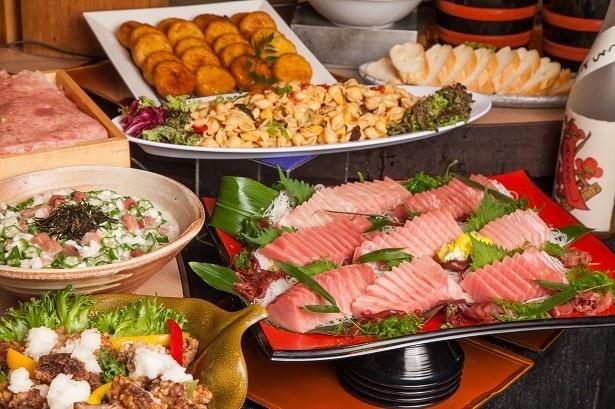 上野の和食ビュッフェレストラン「大地の贈り物」では、初のフェアとなる「ウニとろフェア」を5月8日(月)から限定開催する
