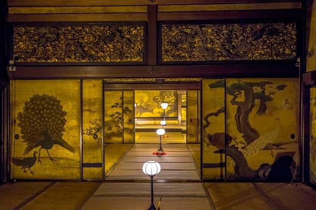 国宝「白書院」は3つの部屋が一列に並ぶ