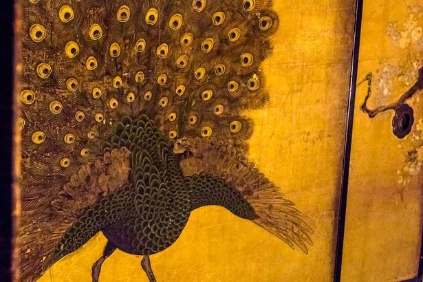 「白書院」は賓客を迎える部屋で中国の故事や孔雀の絵が描かれている