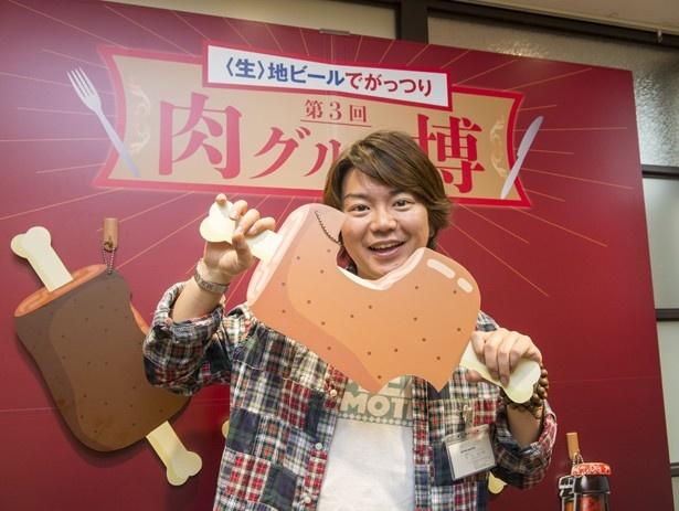 イベントのプロデュースを担当した田辺晋太郎さんも来場