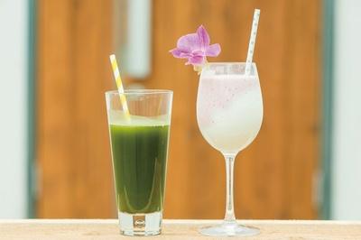 糸島の野菜や旬の果物を使ったフレッシュスムージーを堪能できるジュースハウス「BlueRoof」が登場