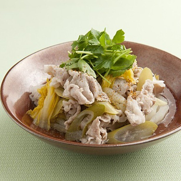 「豚肉と白菜漬けの煮もの」 レタスクラブニュースより