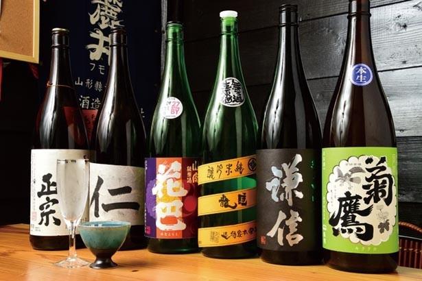 店主が奈良出身ということで奈良のお酒も多い。本店とは違う品種で個性を発揮/日本酒酒場 立呑み仁 天満店