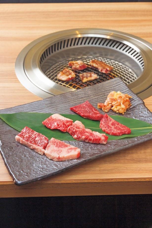 肉ソムリエが選んだ極上肉を堪能!「焼肉七福神」(2052円) /焼肉ソムリエ 萬樹亭