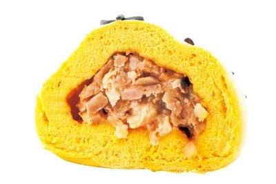 「寅まん」の中身は豚肉のミンチとカット肉