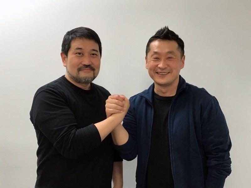 瀬下寛之監督(左)と坂本浩一監督。瀬下監督は普段からTVで坂本作品に触れている特撮ファンだということで、今回の対談に興奮!