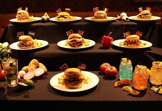 世界8都市のハンバーガーを国内で楽しめる!!