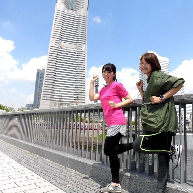 【写真を見る】ランニング初心者・岡村帆奈美アナが横浜を走る