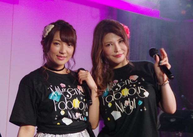 セクシー女優の沖田杏梨と神咲詩織が2マンライブを5月5日に開催した