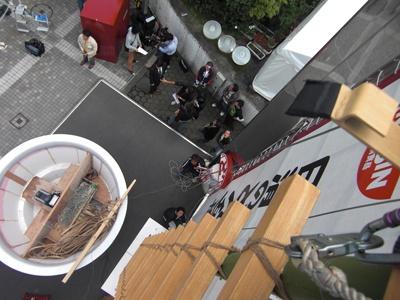 ハシゴの上から撮影