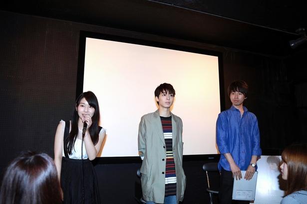 映画「想影」公開初日舞台あいさつを行った