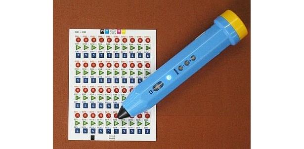 シールをタッチして簡単に音声を録音、停止、再生ができる「ボイスレブ リードライトペン」