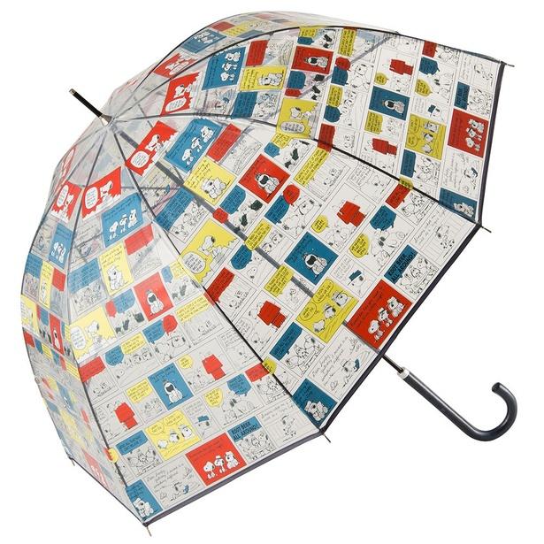 スヌーピーの傘が梅雨空をカラフルに彩ります