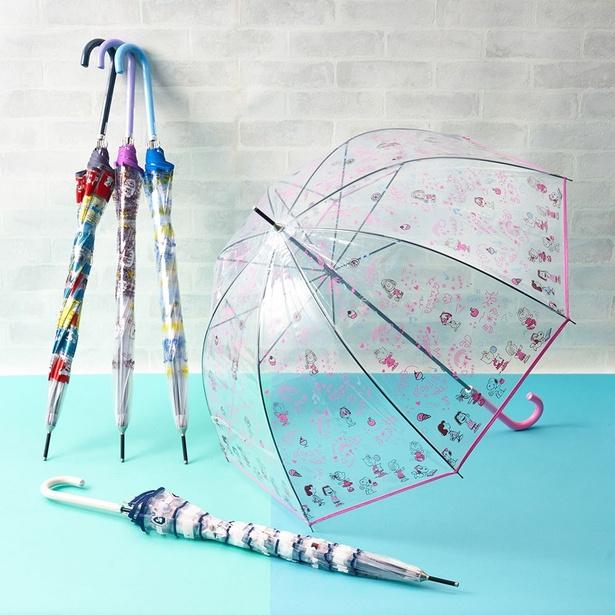【写真を見る】雨の日が待ち遠しくなる可愛い5種類のデザイン