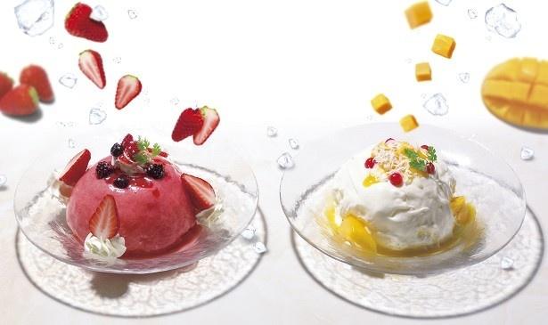 デザート仕立てのプレミアムかき氷「フローズンドーム」(980円)
