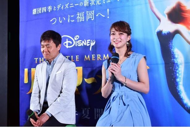 幼い頃から、同作品の大ファンだという人形姫・アリエル役の松元恵美
