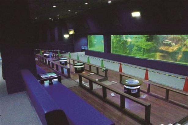 座席が並ぶ海底ごろりんホール
