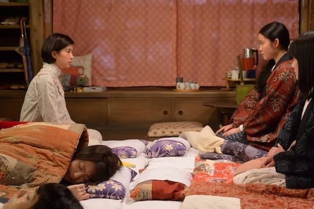 八木が一番印象的なシーンだと話した、時子(佐久間由衣)と豊子(藤野涼子)の対立シーン