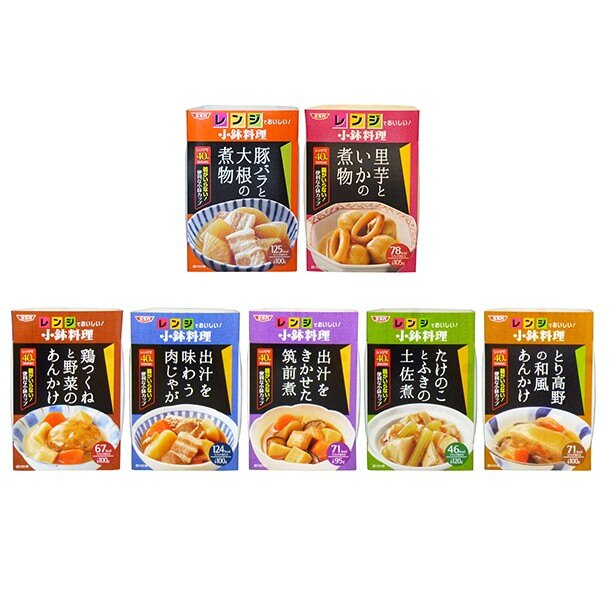 「レンジでおいしい! 小鉢料理」シリーズ 各200円(税別)
