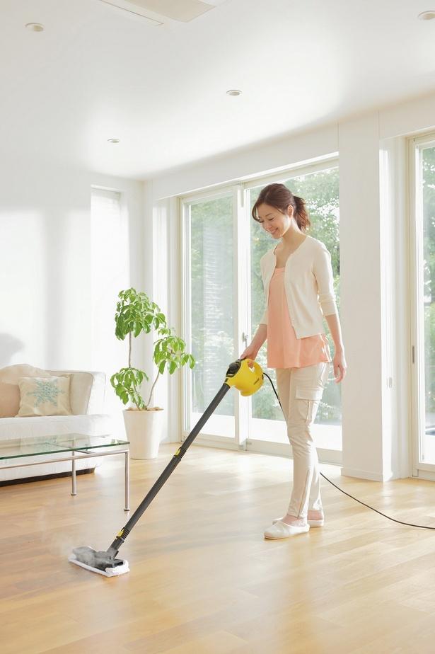 コンパクトで扱いスムーズ。畳やカーペットの除菌もOK