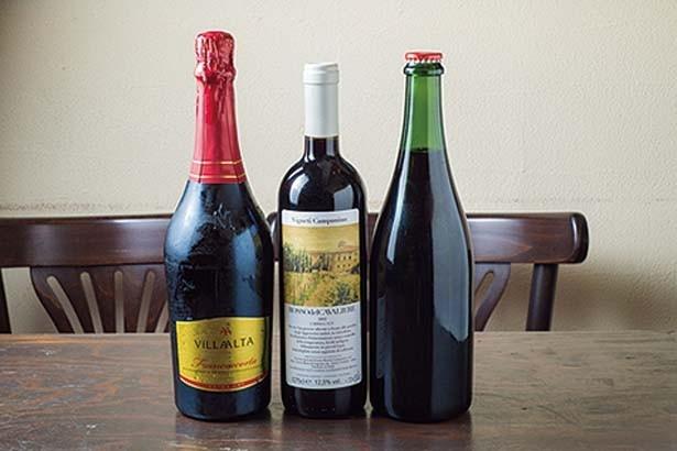 ワインはイタリア各地の特色が出るものをバランスよくそろえる。ボトル3500円から、グラス540円から/CUCIZUCCHE IL BAR