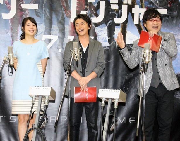 山里亮太は「レンズが二人(勝地、広瀬)寄りだなぁ。3人ショットでお願いします」とカメラマンに要望