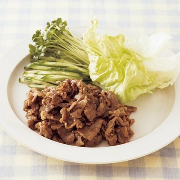 「牛オイスターソース炒めレタス包み」 レタスクラブニュースより