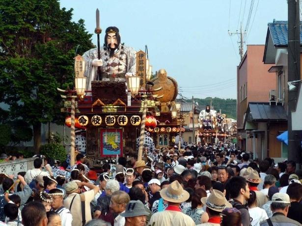 関東の「三大山車祭り」の一つであり、国の重要無形民俗文化財に指定の「佐原の大祭」