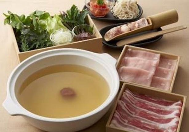 【写真を見る】「紀州南高梅 梅しゃぶ」食べ放題コースも