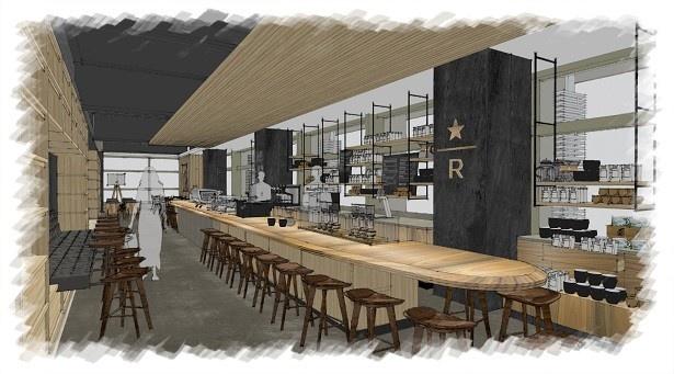 リニューアルオープンする「スターバックス コーヒー 東京ミッドタウン店」