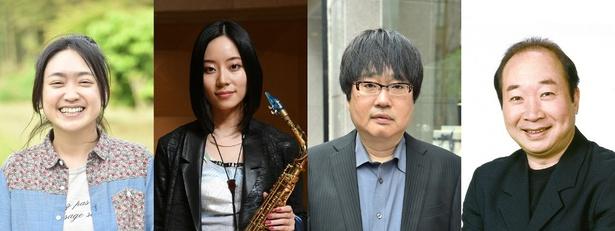 今回出演が決定した池脇千鶴、大西礼華、六角精児、中村梅雀(写真左から)