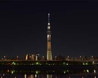 5周年を迎える東京スカイツリーが、新色「橘(たちばな)」色でライトアップ!