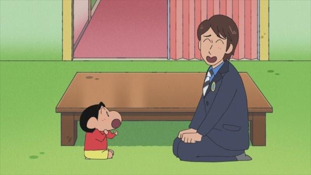 6月2日(金)放送の「クレヨンしんちゃん」で、アニメになった中丸雄一としんのすけのツーショットが実現!