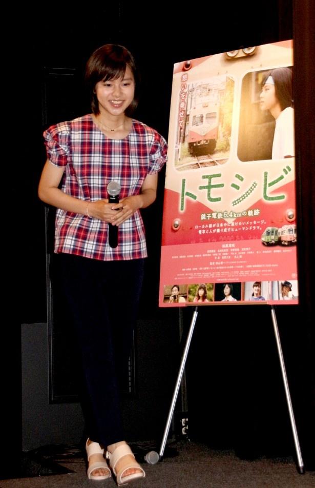 【写真を見る】主演として初の初日舞台あいさつを迎えた松風理咲