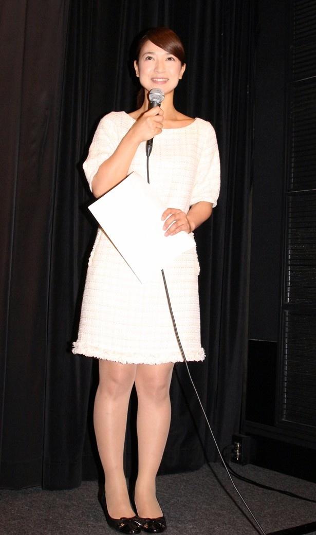 千葉・銚子のシンボル「銚子電鉄」を扱った作品ということもあり、MCはチバテレの朝の情報番組「シャキット!」のメインMC・田野辺実鈴が務めた