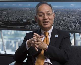 東京スカイツリーを運営する東武タワースカイツリーの取締役社長、酒見重範氏