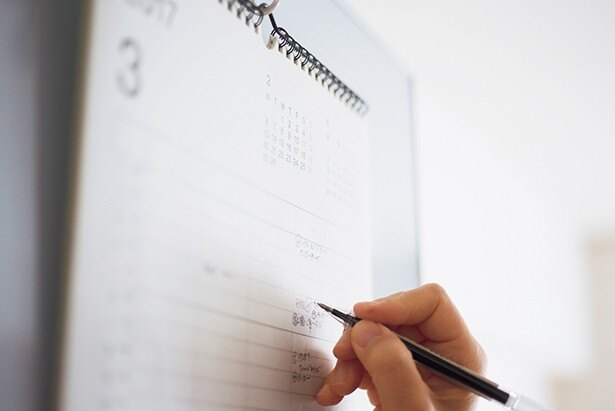 予定を書き込む必要があるものは、家族カレンダーと手帳に転記